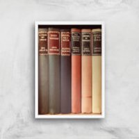 Old Book Shop Giclee Art Print - A4 - White Frame - Shop Gifts