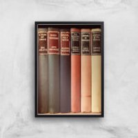 Old Book Shop Giclee Art Print - A4 - Black Frame - Shop Gifts