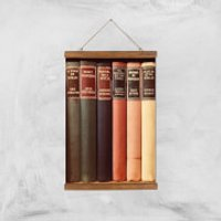 Old Book Shop Giclee Art Print - A3 - Wooden Hanger - Book Gifts