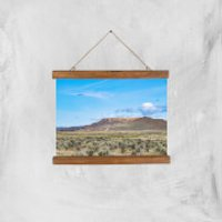 Barren Plains Giclee Art Print - A4 - Wooden Hanger