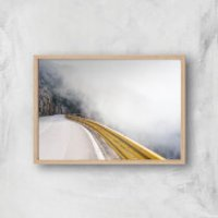 A Road Less Traveled Giclee Art Print - A2 - Wooden Frame