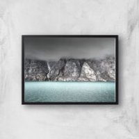 Lake Below The Clouds Giclee Art Print - A4 - Black Frame
