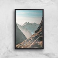 Barron Mountain Scape Giclee Art Print - A2 - Black Frame