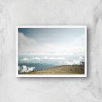 Open Plain Giclee Art Print - A4 - White Frame