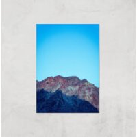 Saturated Mountain Giclee Art Print - A3 - Print Only