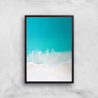 Clear Blue Sea Giclee Art Print - A4 - Black Frame