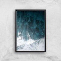 Perfect Wave Giclee Art Print - A2 - Black Frame