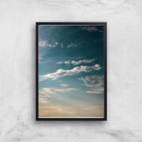 Scattered Clouds Giclee Art Print - A3 - Black Frame