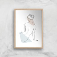 Taking A Minute Giclee Art Print - A4 - Wooden Frame