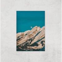Moon Mountain Giclee Art Print - A4 - Print Only