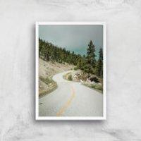 Road To Nowhere Giclee Art Print - A4 - White Frame