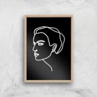 A Hard Stare Tonight Giclee Art Print - A2 - Wooden Frame