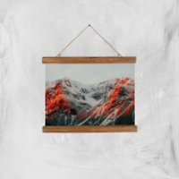 Hints Of Red Giclee Art Print - A4 - Wooden Hanger