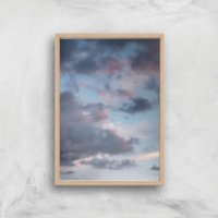 Murky Skies Giclee Art Print - A4 - Wooden Frame