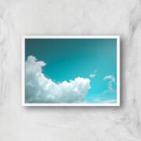 Shapes In The Cloud Giclee Art Print - A2 - White Frame