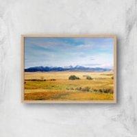 An Ocean Of Grass Giclee Art Print - A3 - Wooden Frame