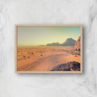 Looming Sandstrom Giclee Art Print - A2 - Wooden Frame