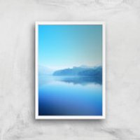 Lake Of Tranquility Giclee Art Print - A4 - White Frame