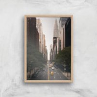 New York City Giclee Art Print - A4 - Wooden Frame - New York Gifts