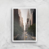 New York City Giclee Art Print - A4 - White Frame - New York Gifts