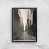 New York City Giclee Art Print - A4 - Black Frame - New York Gifts