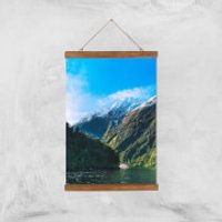 Mountain Boat Trip Giclee Art Print - A3 - Wooden Hanger - Boat Gifts