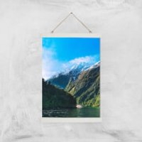 Mountain Boat Trip Giclee Art Print - A3 - White Hanger - Boat Gifts