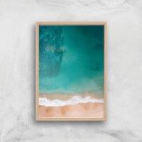 Beach Giclee Art Print - A4 - Wooden Frame - Beach Gifts
