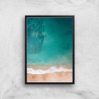 Beach Giclee Art Print - A4 - Black Frame - Beach Gifts