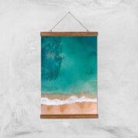 Beach Giclee Art Print - A3 - Wooden Hanger - Beach Gifts