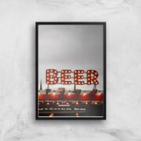 Beer Giclee Art Print - A4 - Black Frame