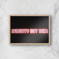 Naughty But Nice Giclee Art Print - A2 - Wooden Frame - Nice Gifts