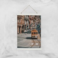 Cable Trolly Giclee Art Print - A3 - White Hanger