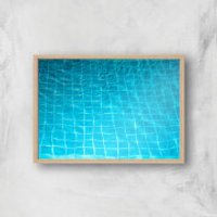 Pool Ripples Giclee Art Print - A3 - Wooden Frame