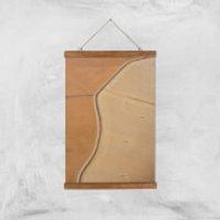 Field Of Beige Giclee Art Print - A3 - Wooden Hanger - Beige Gifts