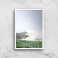 Cloud Path Giclee Art Print - A2 - White Frame