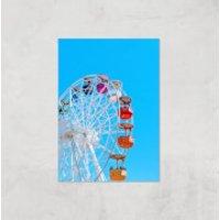 Summer Ferris Wheel Giclee Art Print - A4 - Print Only - Summer Gifts