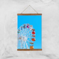 Summer Ferris Wheel Giclee Art Print - A3 - Wooden Hanger - Summer Gifts