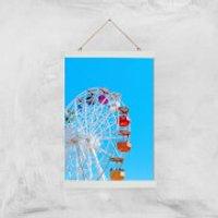 Summer Ferris Wheel Giclee Art Print - A3 - White Hanger - Summer Gifts