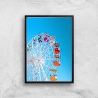 Summer Ferris Wheel Giclee Art Print - A2 - Black Frame - Summer Gifts