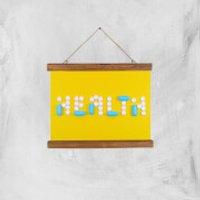 Health Pills Giclee Art Print - A4 - Wooden Hanger - Health Gifts