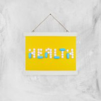 Health Pills Giclee Art Print - A4 - White Hanger
