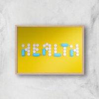 Health Pills Giclee Art Print - A3 - Wooden Frame - Health Gifts