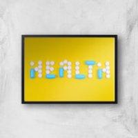 Health Pills Giclee Art Print - A2 - Black Frame - Health Gifts