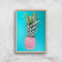 Pineapple Giclee Art Print - A3 - Wooden Frame