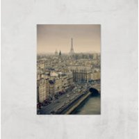Streets Of Paris Giclee Art Print - A3 - Print Only - Paris Gifts
