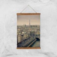 Streets Of Paris Giclee Art Print - A3 - Wooden Hanger - Paris Gifts