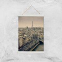 Streets Of Paris Giclee Art Print - A3 - White Hanger - Paris Gifts