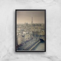 Streets Of Paris Giclee Art Print - A2 - Black Frame - Paris Gifts