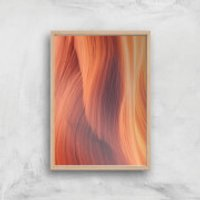 Desert Shades Of Red Giclee Art Print - A3 - Wooden Frame